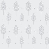 Wheat pattern on the grey Royalty Free Stock Photos