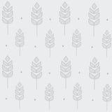 Wheat pattern on the grey. Background stock illustration