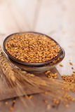 Wheat in plate. Stock Images