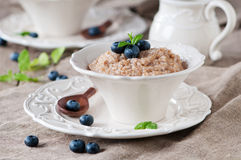 Wheat porridge Royalty Free Stock Images
