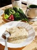Wheat porridge for breakfast Royalty Free Stock Photos