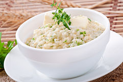 Wheat porridge with herbs Royalty Free Stock Photo