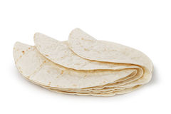 Wheat round tortillas Royalty Free Stock Photography