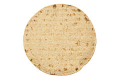 Wheat round tortillas stock image