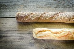 Wheat and Rye Baguettes Stock Photos