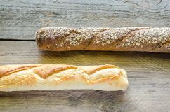 Wheat and Rye Baguettes Stock Image