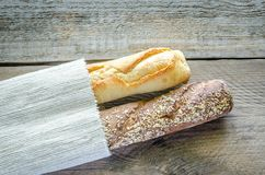 Wheat and Rye Baguettes Stock Photo