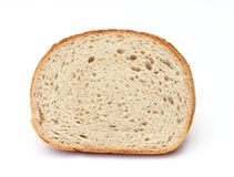 Wheat rye bread. On white background stock photo