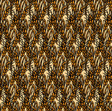 Wheat rye field seamless pattern. Stock Images