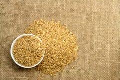 Wheat on Sackcloth Royalty Free Stock Photo