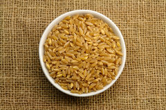 Wheat on Sackcloth Royalty Free Stock Photography