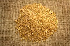 Wheat on Sackcloth Royalty Free Stock Images