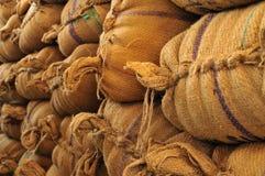 Wheat sacks Stock Photos