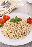 Wheat salad with tomato Royalty Free Stock Image