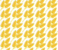 Wheat seamless pattern. Corn, ears seamless texture. Wheat ears background. Vector illustration Royalty Free Stock Images