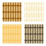 Wheat seamless pattern. Illustration.Vector. Illustration brown beige Stock Photography