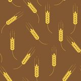 Wheat seamless pattern Royalty Free Stock Photography