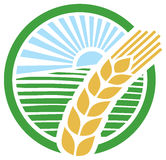 Wheat sign - badge Royalty Free Stock Photos