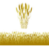 Wheat silhouette background Royalty Free Stock Images