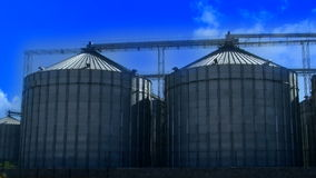Wheat silo and cloud timelapse stock video