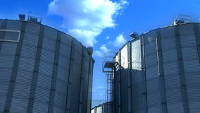 Wheat silo and cloud timelapse stock video footage