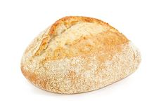 Wheat sourdough bread with bran closeup Stock Images