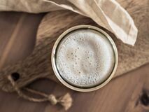 Free Wheat Sourdough Starter, Top View, Copy Space Stock Photo - 183073110