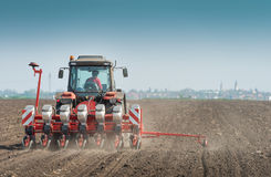 Wheat sowing Royalty Free Stock Images