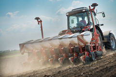Wheat sowing Stock Images