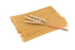 Wheat and spaghetti Stock Photos