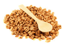 Wheat and spoon Royalty Free Stock Photo