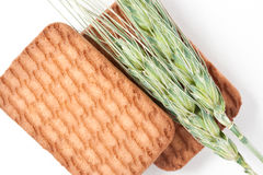 Wheat Straws & Biscuits Royalty Free Stock Image