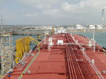 Wheat is Taiwan Lao unloading oil tanker Royalty Free Stock Photo
