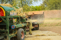 Wheat threshing Royalty Free Stock Photography