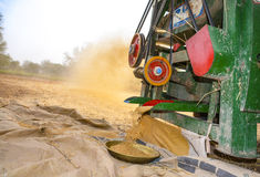 Wheat threshing Royalty Free Stock Images