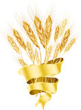 Wheat on white background Stock Photos