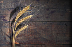 Wheat On Wood Stock Image