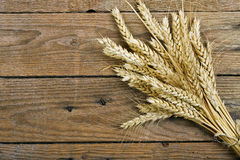 Wheat on wood Royalty Free Stock Photo