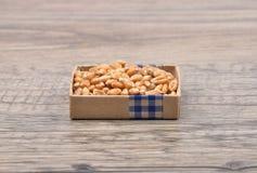 Wheat on wood Royalty Free Stock Image