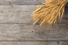 Wheat on the wood Stock Photo