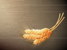 Wheat on wooden background. EPS 10. Wheat on wooden background. top view. EPS 10 vector file included stock photography