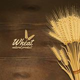 Wheat On Wooden Table Stock Image