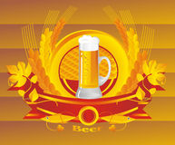 WheatBeerVignette Stock Photo