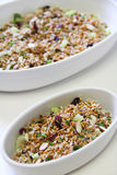Wheatberry salad healthy vertical Royalty Free Stock Image
