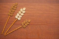 Wheatear feito do pão Imagem de Stock