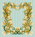 Wheaten стиль nouveau искусства обоев Стоковая Фотография RF