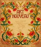 Wheaten background in art nouveau style Royalty Free Stock Photos