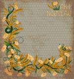 Wheaten banner in art nouveau style, vector. Illustration