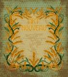 Wheaten card  art nouveau style, vector Stock Photo