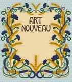 Wheaten card in art nouveau style, vector Stock Photography